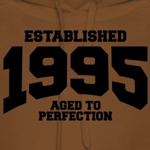 aged to perfection established 1995 (it) T-shirt - Felpa con cappuccio premium da donna