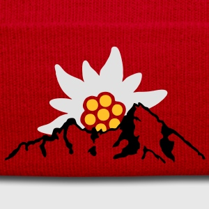 watzmann with edelweiss Alps T-Shirts - Winter Hat