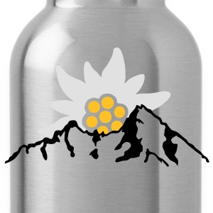 watzmann with edelweiss Alps T-Shirts - Water Bottle