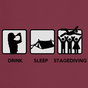 Drink Sleep Stage Diving - festival stages tents T-Shirts - Cooking Apron