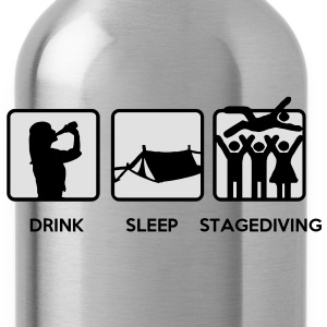 Drink Sleep Stage Diving - festival stages tents T-Shirts - Water Bottle