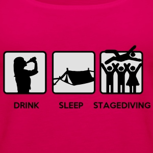 Drink Sleep Stage Diving - festival stages tents T-Shirts - Women's Premium Tank Top