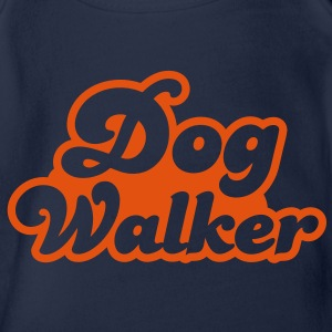 dog walker cute font pets helpful Shirts - Organic Short-sleeved Baby Bodysuit
