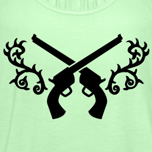 gunslinger guns with thorns crossed  Shirts - Women's Tank Top by Bella