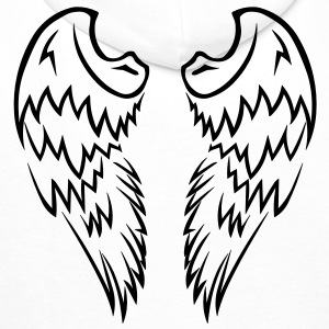 Pink Tribal Tattoo Angel Wings - Men's Premium Hoodie