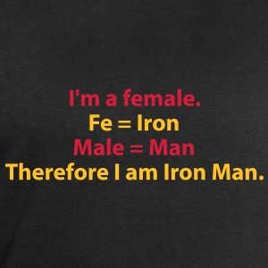 182_i_am_a_female_i_am_iron_man T-shirts - Mannen sweatshirt van Stanley & Stella