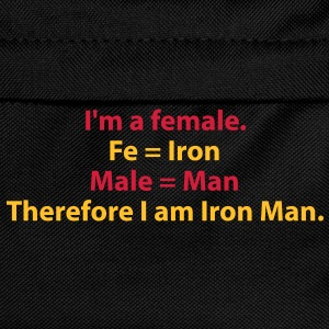 182_i_am_a_female_i_am_iron_man T-shirts - Rugzak voor kinderen