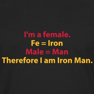 182_i_am_a_female_i_am_iron_man T-shirts - Mannen Premium shirt met lange mouwen