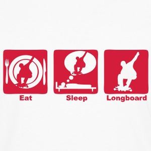 longboard 301 eat sleep play  Tee shirts - T-shirt manches longues Premium Homme