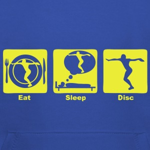 lancer disque disc eat sleep play  Tee shirts - Pull à capuche Premium Enfant