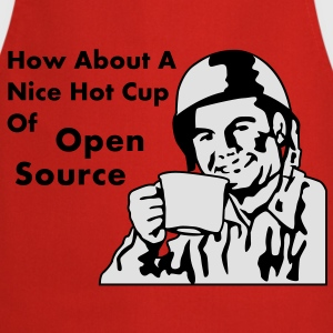 How About A Nice Hot Cup Of OPEN SOURCE T-shirt - Grembiule da cucina
