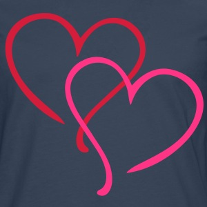 Love Heart T-Shirts - Men's Premium Longsleeve Shirt