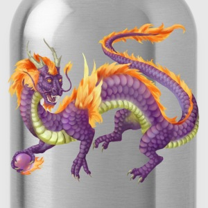 purple chinese dragon - Water Bottle