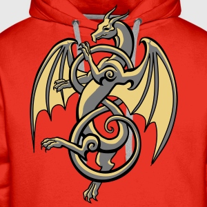 celtic dragon - Men's Premium Hoodie