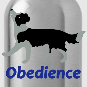 Obedience Border Collie  T-Shirts - Trinkflasche