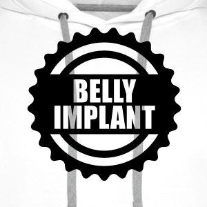 Belly implant T-Shirts - Men's Premium Hoodie