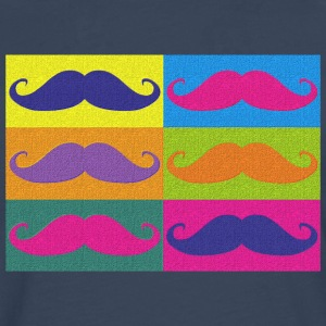 moustaches pop art Tee shirts - T-shirt manches longues Premium Homme