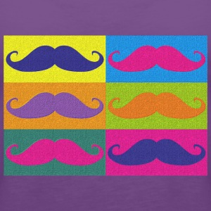 moustaches pop art Tee shirts - Premium singlet for kvinner