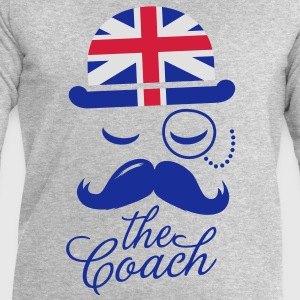 England Gentleman championship coach football | olympics sporting moustache T-Shirts - Men's Sweatshirt by Stanley & Stella