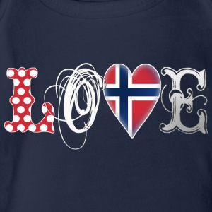Love Norway White Shirts - Organic Short-sleeved Baby Bodysuit