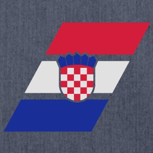 croatia stripe flag T-Shirts - Schultertasche aus Recycling-Material