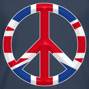 uk peace Tee shirts - T-shirt manches longues Premium Homme