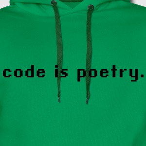 code is poetry T-Shirts - Männer Premium Hoodie