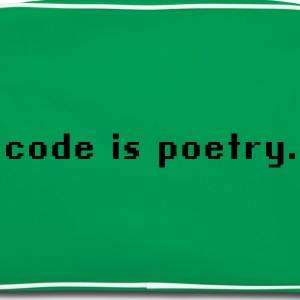 code is poetry T-Shirts - Retro Tasche