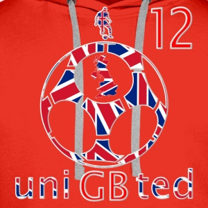 GB union football soccer 12 women's t-shirt - Men's Premium Hoodie