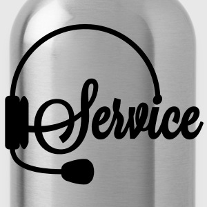 Servicehotline | Service T-Shirts - Trinkflasche