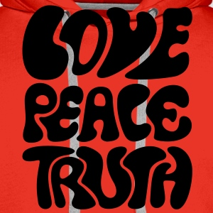 Love Peace Truth * Lifestyle 70s T-Shirts Goa T-shirts - Mannen Premium hoodie