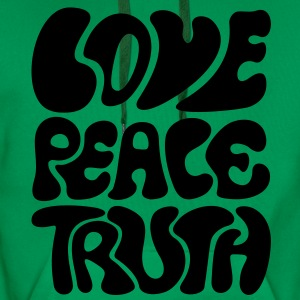 Love Peace Truth Tee shirts - Sweat-shirt à capuche Premium pour hommes