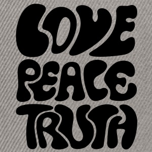 Love Peace Truth * Lifestyle 70s T-Shirts Goa Koszulki - Czapka typu snapback