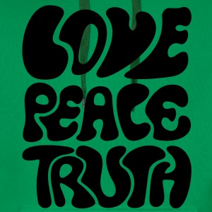 Love Peace Truth * Lifestyle 70s T-Shirts Goa T-Shirts - Men's Premium Hoodie
