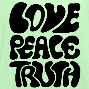 Love Peace Truth * Lifestyle 70s T-Shirts Goa T-shirts - Vrouwen tank top van Bella