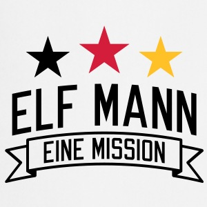 Elf Mann | eine Mission | em | EM T-Shirts - Cooking Apron