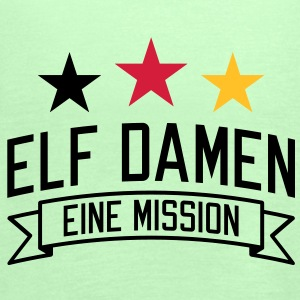 Elf Damen | eine Mission | em | EM T-Shirts - Vrouwen tank top van Bella