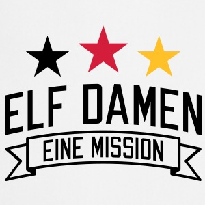 Elf Damen | eine Mission | em | EM T-Shirts - Keukenschort