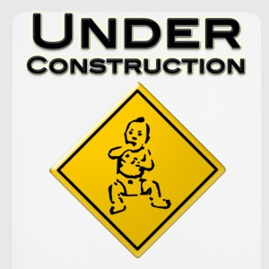Baby under Constraction - Baby in Arbeit T-Shirts - Mousepad (Hochformat)