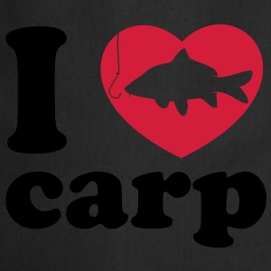 I Love Carp Fishing brown - Cooking Apron