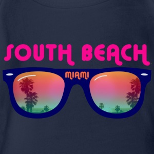 South Beach Miami Tee shirts Enfants - Body bébé bio manches courtes
