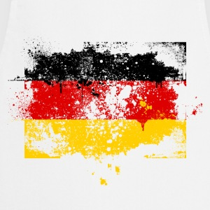 Germany flag banner urban grunge graffiti style German pride T-Shirts - Cooking Apron