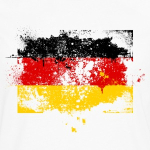Germany flag banner urban grunge graffiti style German pride T-Shirts - Men's Premium Longsleeve Shirt