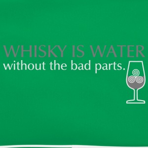 Whisky is water, bicolor T-Shirts - Retro Bag