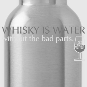 Whisky is water, bicolor T-shirts - Drinkfles