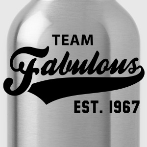 TEAM Fabulous Est. 1967 Birthday Anniversary T-Shirt WG - Water Bottle