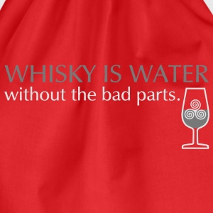 Whisky is water, bicolor T-shirts - Gymtas