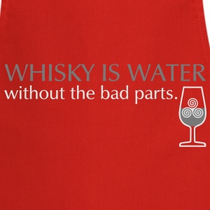 Whisky is water, bicolor T-shirts - Keukenschort
