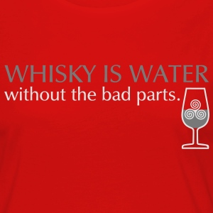 Whisky is water, bicolor T-shirts - Vrouwen Premium shirt met lange mouwen