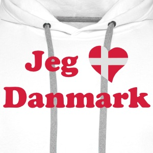 denmark_heart_text_2clr - Men's Premium Hoodie
